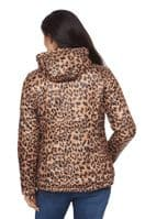 ❤️ Up to Plus ❤️ Womens Reversible Quilted Ocelot Print Black Jacket db783